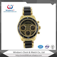 Two tones alloy watch fashion accesory wrist watch
