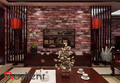 Holiday Decoration Red Brick Wall Cover PVC Brick 3D Wallpaper