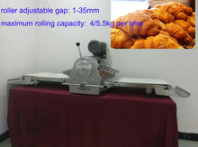 stainless steel croissant table dough sheeter pastry machine