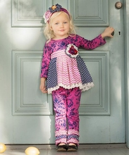 CONICE NINI brand Top Selling Wholesale Children's Kids Boutique Clothing Decorated with Lace