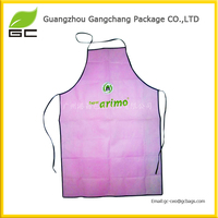 China manufacturer non woven kitchen pink apron wholesale