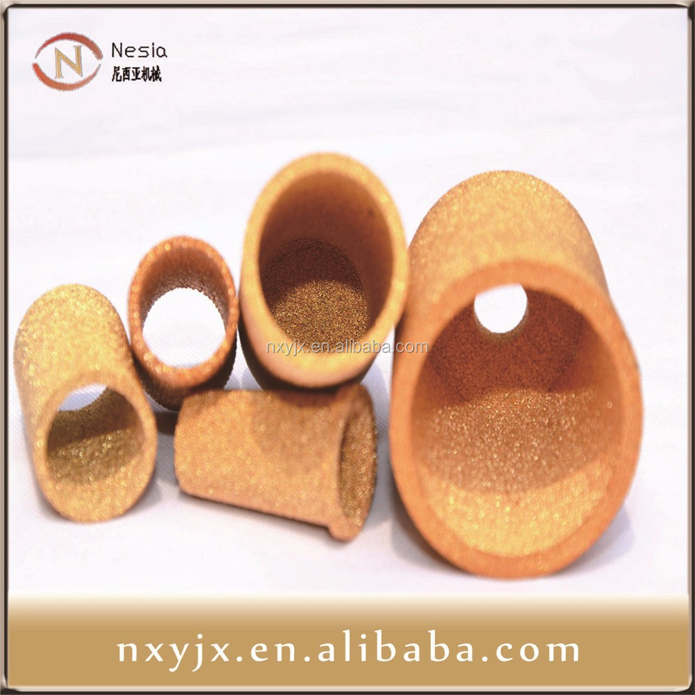 sintered powder metal parts sintered bronze silent muffler