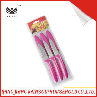 4pcs PP handle paring knife set with blister card