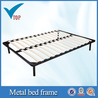 Cheap metal Queen solid wooden bed frames