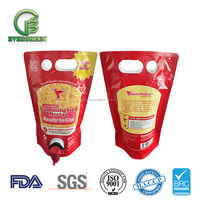 Custom plastic food packaging bag milk bag in box wine/bag in box syrup