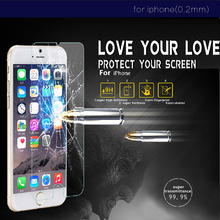 2.5D round edge ultr thin for iphone 6 Premium Tempered Glass 4.7 inch For Apple iPhone 6 Screen Protector Film 0.2mm