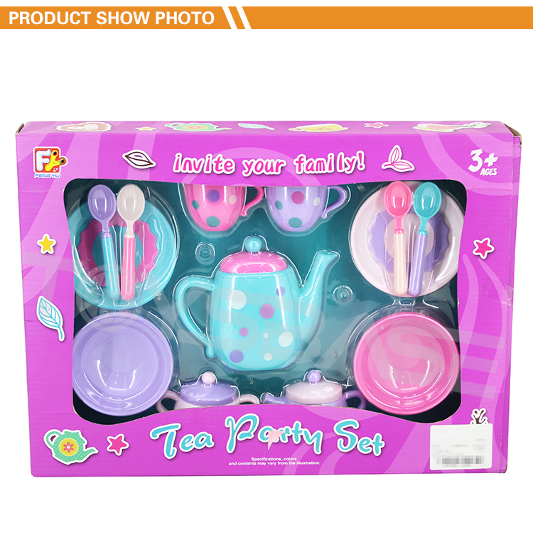Juguete Plastico New Product Girl Pretend Play Toys 13 PCS Tea Tasting Cup Set