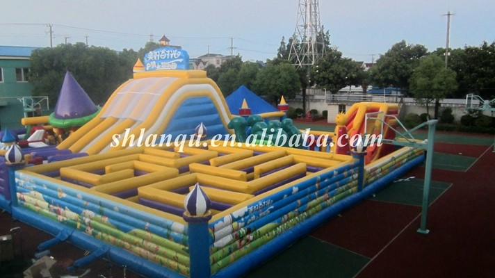 cheap giant inflatable halloween maze laser tag arena