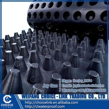 8mm for waterproof plastic HDPE dimple drainage board