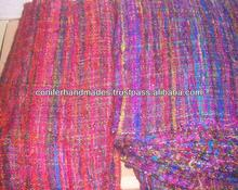 recycled sari silk fabrics made from sari silk yarn suitable for use by home furnishing stores and for home decor