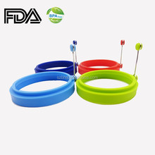 China Supplier Bulk Silicone Egg Rings Set of 4 Egg Poachers for Sales