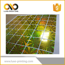 Printed custom holographic 3d security sticker