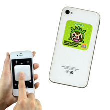 Adhesive mini microfiber cell phone screen cleaner