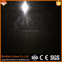 High-quality cheap black granite tiles and slabs black galaxy granite kitchen countertops India galaxy black granite stairs