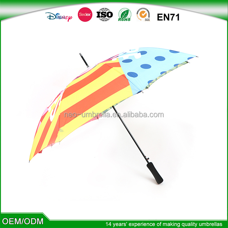 Windproof Custom Promotional High quality Creative Trump 21-23 inch straight golf umbrella with air vents