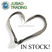 High Quality Forged Big Game Hook ,High Carbon Steel Chinu Ringed Forged Fishing Hooks Four Sizes In Stock ,Forged Hook Hot Sale