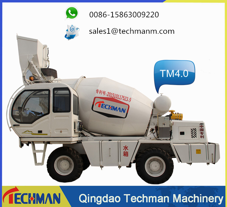Programmable self loading concrete mixing machine truck type mixer self loading concrete feeding mixer for sale with CE approved