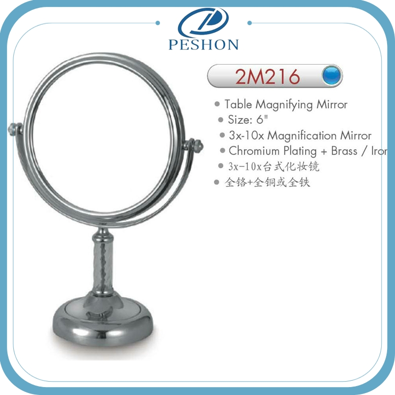 Magnifying Antique Shaving Mirror; Shaving Mirror Stand