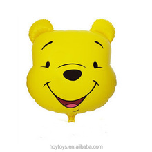 fashion winnie design head shaped balloons bear