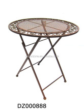 Folding Metal Cast Iron Bistro Table Chair Set