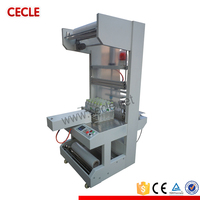 Semi automatic plastic film shrink wrapping machine
