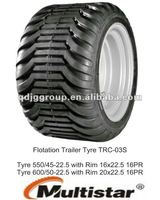 550/45-22.5 tyre and wheel