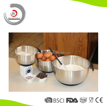 Stainless steel ceramic mixing bowl set of 3 with spout