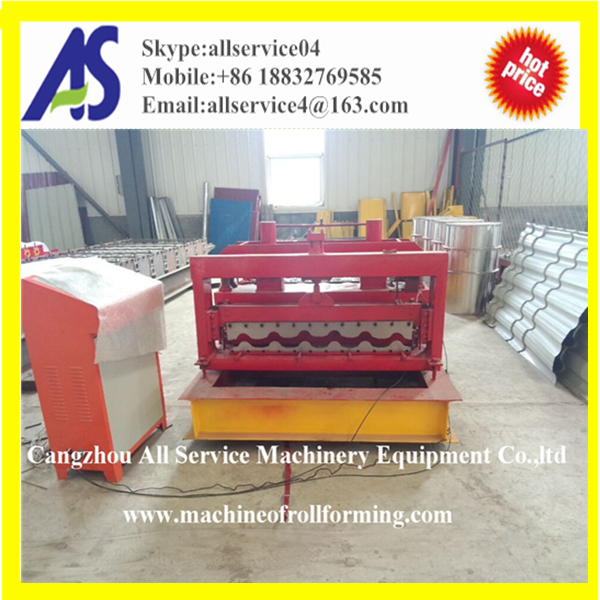 AS760 Metal Glazed Roof Tile Roll Forming Machinery With Automatic System
