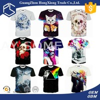 Attractive design O-neck White all over t shirt printing