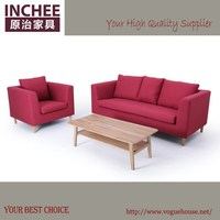 INCHEE 6098 modern foshan simple style living room fabric sofa set