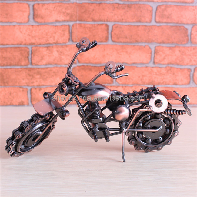 Metal Motorcycle Craft Classic Motorcycle Dest Decorations