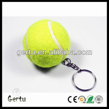 Promotional 40mm felt tennis ball keychain