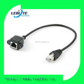 RJ45 Male to Female Screw panel mount Ethernet LAN Network extension Cable
