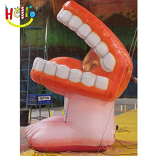 Lovely advertising inflatable teeth mouth model