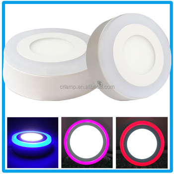Good quality 24w 242mm surface mounted led panel lamps double color