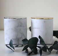 Big High End Scented Candles with Soy Wax in Marble Jar