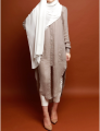 Grey Soft midi shirt muslim dress women clothing new model abaya in dubai islamic dress