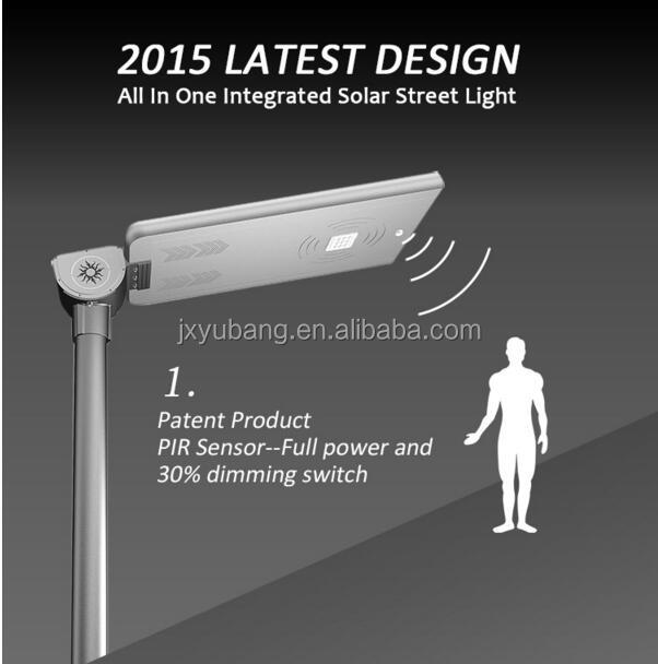 Factory price 25W All in one integrated solar street light solar garden light led solar outdoor lamp solar yard lamp