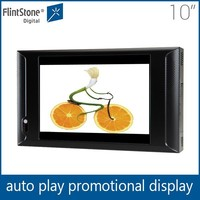 Flintstone 10 inch wall mounted LCD retail digital signage sign,small lcd video display