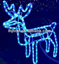 LED christmas motif light of blue deer