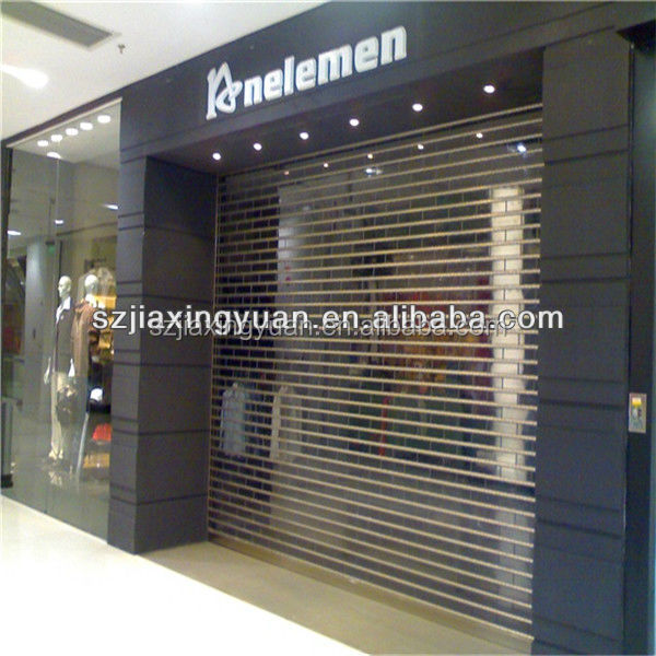 Motorized Transparent Polycarbonate Roller Shutter Door Buy Polycarbonate Roller Shutter Door
