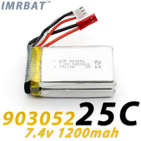 New arrival 903052 2S1P 7.4v 1200mah rechargeable lipo battery for Wltoy V353 X1 rc quadcopters and A949 A959 A969 A979 rc cars