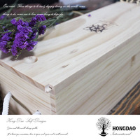 HONGDAO factory price pine wood wine box for sale, wooden wine box