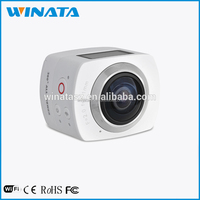 2016 newest 360 degree all viewer action sport camera Fish-eye panoview camera build in wifi video camera