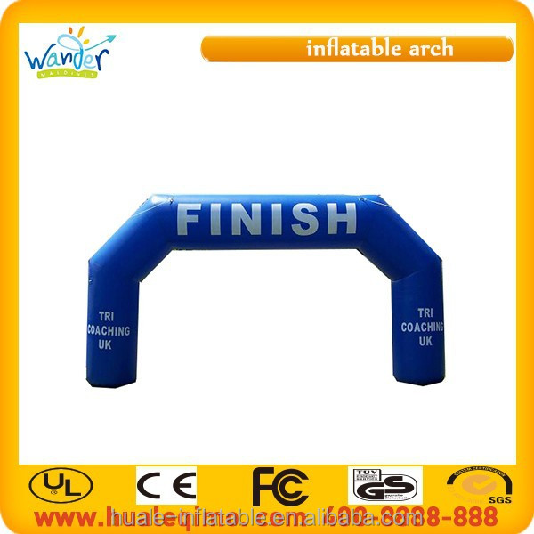 2015 New design cheap inflatable entrance finish line arch for marathon