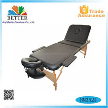 Better 2017 adjustable wooden folding table mate,wood massage table