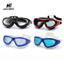 China Supplier wide view anti-fog sports glasses swimming goggles with diopter
