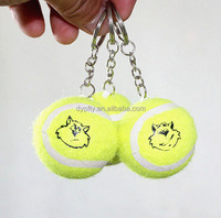 cheap price promotional keychain with tennis ball keyring manufacturer