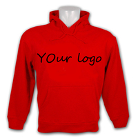 custom wholesale cotton or polyester plain hoodie