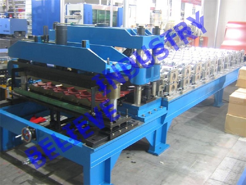 Glazed Metal Roof Tile Sheets Roll Forming Machine